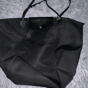 Black on black large Lonchamp